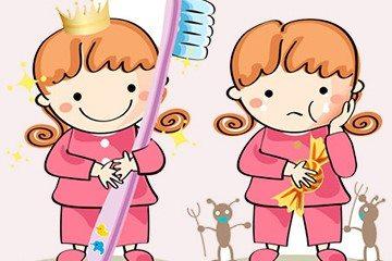 учим детей чистить зубки