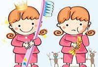 как чистить зубы детям